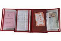 Porte Papier Voiture en Cuir - Format 4 Volets - étui Carte Grise Permis