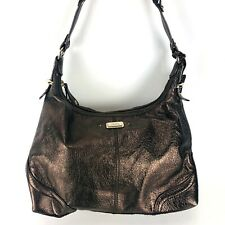 THE SAK Metallic Bronze Leather HOBO satchel Handbag Purse