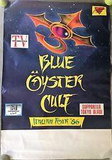 MANIFESTO,POSTER 1986, Blue Öyster Cult  ITALIAN TOUR 1986 CONCERTO VIDEOMUSIC