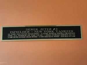 Derek Jeter Yankees Autograph Nameplate For A Baseball Helmet Photo Case 1.5 X 8