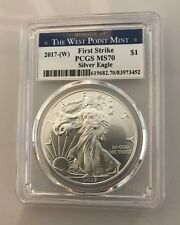 2017 MS-70 PCGS Silver Eagle Struck West Point Mint $1