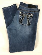 7 Seven For All Mankind Denim Blue Skinny Denim Stretch Jeans Womens Size 10