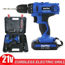 Dayplus 21V Electric Power 2 Speed Cordless Drill 18+1 Driver Screwdriver Kits