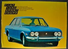 1970-1971 Fiat 124 Sport Coupe Sales Brochure Sheet Nice Original