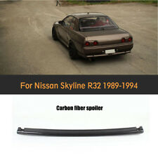 For Nissan Skyline R32 1989-1994 Rear Trunk Boot Spoiler Wing Carbon Fiber