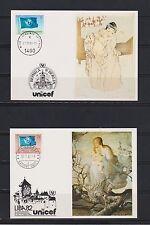 Briefmarken der Vereinten Nationen mit Kunst-Motiv