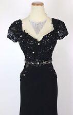 New Authentic TONY BOWLS TBE 21411 Black Beaded Evening Women Prom Dress 2