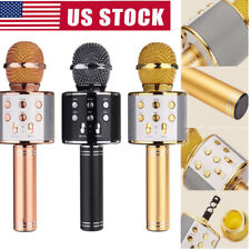 Portable USB Mini Wireless Bluetooth Karaoke MIC Speaker Microphone KTV Player