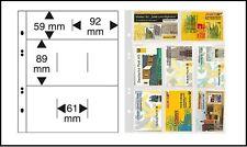 5 LINDNER 1363 Multi Collect Einsteckblätter Glasklar 8x MIx Telefonkarten