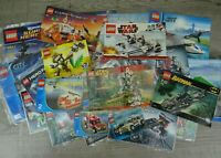Lego Instructions Manuals Large Job Lot Genuine Booklets City Star Wars Technic