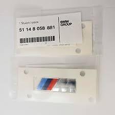 BMW OEM Genuine M Sport Side Fender Emblem Badge 51148058881