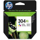 1x HP NO 304xl ALTA CAPACIDAD COLOR ORIGINAL OEM Cartucho de Tinta n9k08ae