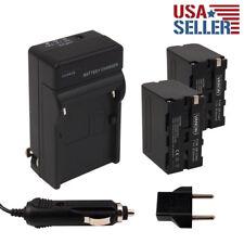 2pcs NP-FW50 Batteries + Charger for SONY NEX-5N NEX-3D Alpha A3000 FW50 NEX-C3