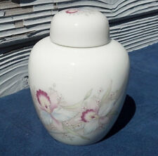 Ginger Jar by Russ Dresser Jar Women Flower Design Porcelain Jar and Lid Vase
