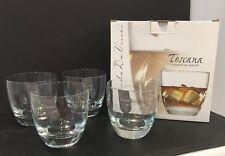 NIB Set of 4 DOF Double Old Fashion Leonardo DaVinci Toscana Fine Glassware