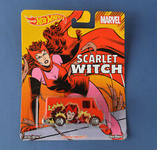 Hot Wheels Pop Culture Women of Marvel Scarlet Witch Combat Medic Red Boxed