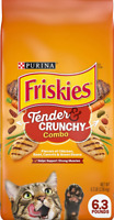 Purina Friskies Tender Crunchy Combo Chicken Flavors Adult Dry Cat Food 6.3 lb