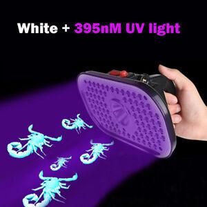 83 LED White UV Headlamp Rechargeable Lamp Scorpion Hunting Money Detector
