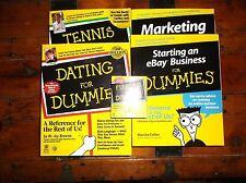 5 Book Set ... for Dummies - Dating, Tennis, Fishing, Marketing, eBay Business