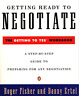 Fisher, Roger/ Ertel, Danny-Getting Ready To Negotiate BOOK NEUF