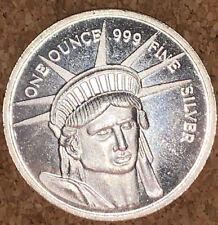 Statue of Liberty One Oz Silver Round Commemorative