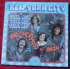 Brotherhood of Man, New York city / tell me tell me tell me, SP - 45 tours