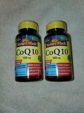 Nature Made CoQ10 100 mg 40 softgels Heart Function Cellular Energy 2 PACK