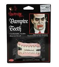 DENTI VAMPIRO, DRACULA SET DI ZANNE, DENTI FINTI COSTUME ACCESSORIO, HALLOWEEN