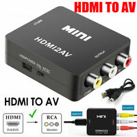1080P Mini HDMI To RCA Audio Video AV CVBS Composite Converter Adapter For TV