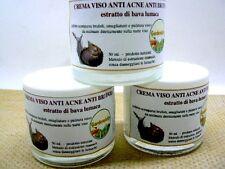 CREMA VISO ANTI ACNE ANTI BRUFOLI estratto di bava lumaca prodotto naturale