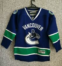 Vancouver Canucks Reebok NHL CCM HOCKEY SEWN STITCHED JERSEY YOUTH SIZE L/XL