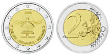 BELGIEN 2 EURO 60 JAHRE MENSCHENRECHTE 2008 bankfrisch