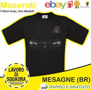 T-Shirt MASERATI - Car Italian Motor Motori Automobile Auto Idea Regalo Cars