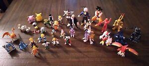 Digimon Dragonball Pokemon Figures Bandai 1999 2000 Mini 30+ Figures