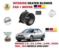 Pour Ford Mondeo Inclus ST220 V6 2000-2007 Neuf Intérieur Ventilateur Chauffage