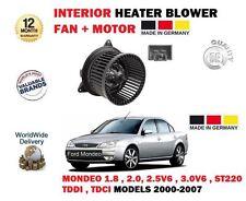 FOR FORD MONDEO INC ST220 V6 2000-2007 NEW INTERIOR FAN HEATER BLOWER + MOTOR