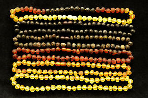 15 COLORS Natural Baltic Amber Adult Necklace Round RAW Beads 16-27.5 inches BQ