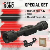 SPECIAL SET: Thor LT 320 2-4x + QDM + Thermal Targets Set + Fedex 2Day