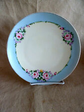 """Pretty Old Handpainted Floral Plate Nippon 8 1/4"""""""
