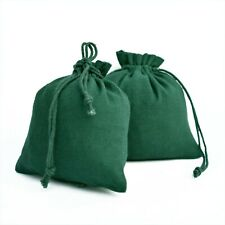 """25 PCS Cotton Drawstring Green Jewelry Packaging Pouch Small Gift Coin Bags 3x3"""""""