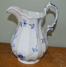 "Royal Copenhagen Blue Fluted plain china 8"" Pitcher #355"