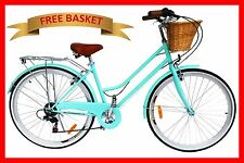 BRAND NEW VINTAGE RETRO LADIES BICYCLE / BIKE 6 SPEED BEACH CRUISER MINT GREEN