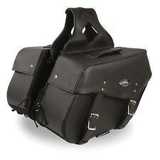 """Motorcycle Waterproof Saddle Bags Black Harley Bike List Below  15 x 12 x 7"""""""