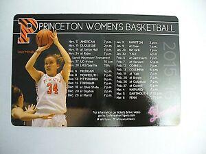 Princeton University 2015/16 Women's Basketball Magnetic Schedule - NEW