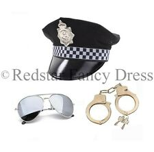 POLICE FANCY DRESS HAT AVIATORS HANDCUFFS STAG NIGHT COP MENS LADIES UNISE
