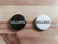 Official The Killers Hot Fuss Set of Two Pin Badges Black / White