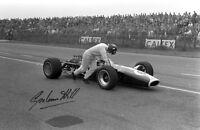 GRAHAM HILL - Repro-Autogramm, 20x30 cm, Formel 1, repro autograph signed