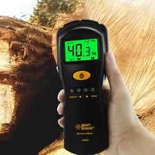 Digital LCD Wood Damp Moisture Meter Detector Timber Logs Tester Sensor Tool