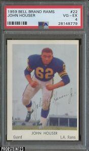 1959 Bell Brand Rams #22 John Houser Los Angeles Rams PSA 4 VG-EX