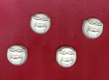Cute reindeer face on disc plaster of Paris painting project. Set of 12!